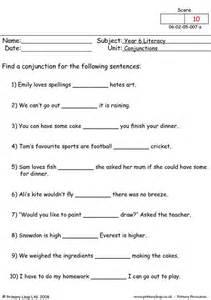 primaryleap co uk conjunctions 1 worksheet