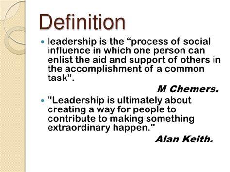 Definition Of Leadership Essay by Presentation On Leadership