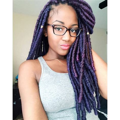dark blue marley hair 6 cool faux locs hairstyles with marley hair hairstylesout
