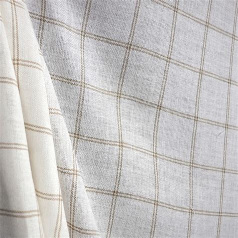 sheer linen curtain fabric linus nutmeg linen sheer check fabric contemporary