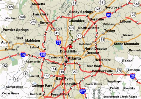 atlanta georgia surrounding area map map atlanta ga area afputra com