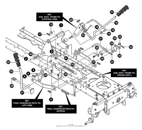 murray parts diagram murray 40379x88 lawn tractor 2000 parts diagram for