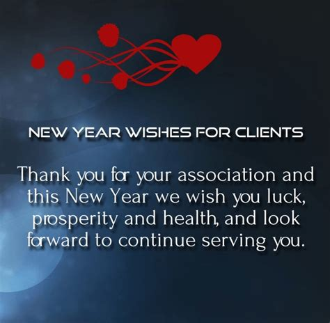 year wishes  clients