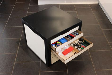 lack table hacks lack table with lego storage drawers ikea hackers