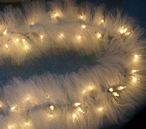 Ivory Tulle Netting On Mini String Lights By Nancianne514 Netting Lights