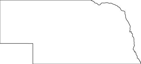 Northeast Map Outline by Nebraska Outline Map