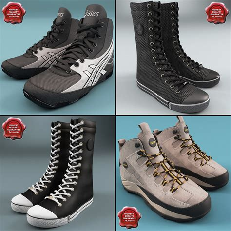 winter sport shoes 3d winter sport shoes model