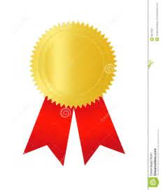 gold seal with red ribbon royalty free stock images