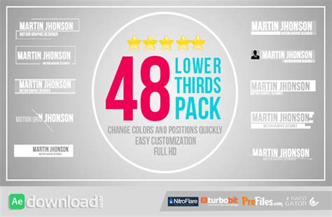 templates for after effects cs5 free download videohive 48 lower thirds pack free download free after