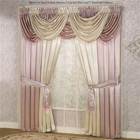 waterfall curtain pattern portia ii waterfall valance window treatments