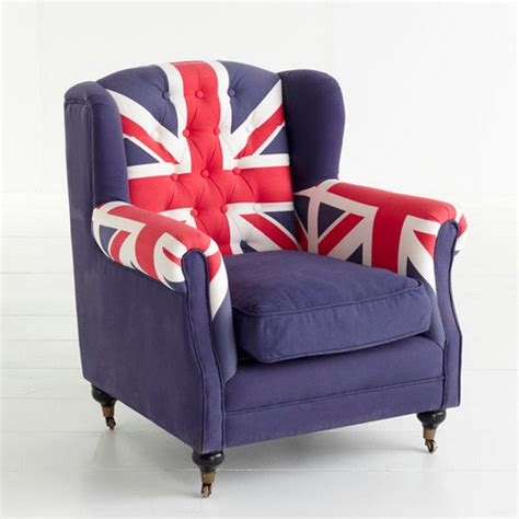 union jack armchair union jack wingback chair eclectic armchairs and