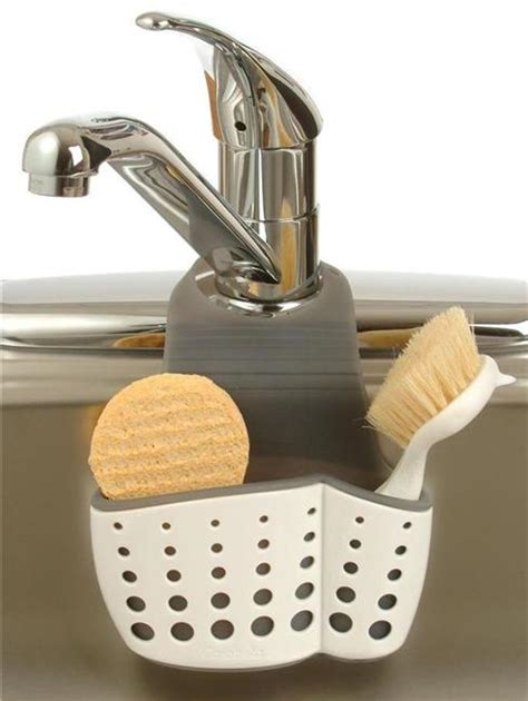 how to wash dishes without a sink casabella sink sider faucet sponge dish brush holder