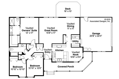 Country Floor Plans Country House Plans Briarton 30 339 Associated Designs