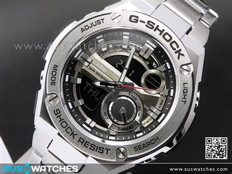 G Shock Casio Rantai Stainless Steel Gsts4 buy casio g shock analog digital g steel layer guard stainless steel mens gst 210d 1a