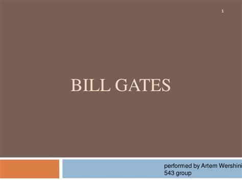 bill gates biography slideshare bill gates