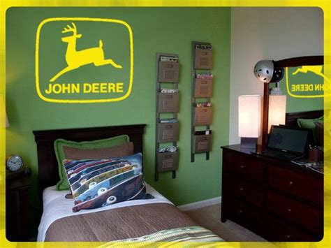 deere bedroom ideas deere logo wall diy removable vinyl decal 24 quot x