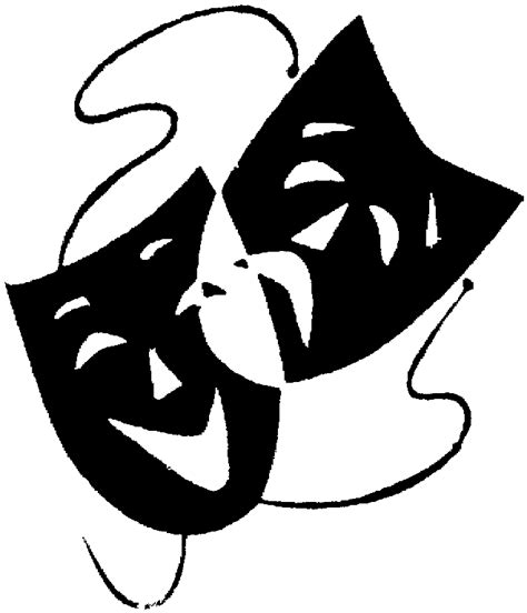 black and white drama black and white drama masks clipart best