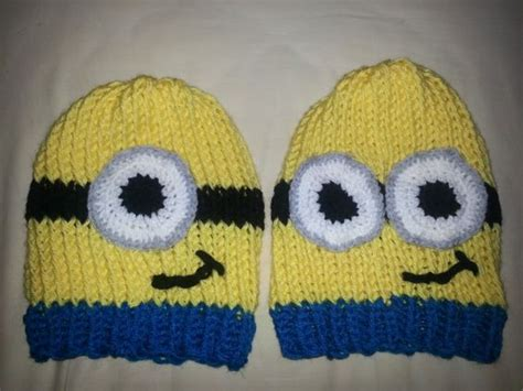 free knitted minion hat pattern minion hats loom knit and loom on