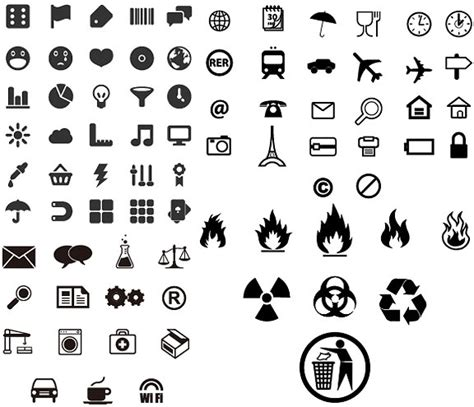 practical small icon vector identification free vector in