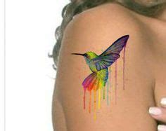 watercolor tattoo nanaimo hummingbird by andrea nanaimo b c tattoos