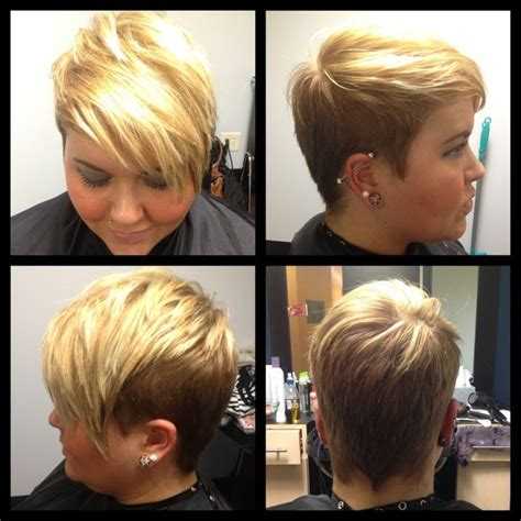 blonde foils pixe cut undercut pixie pixie with blonde highlights hairology