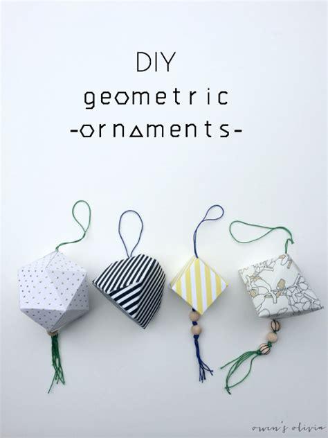 printable geometric shape ornaments diy geometric ornaments u create