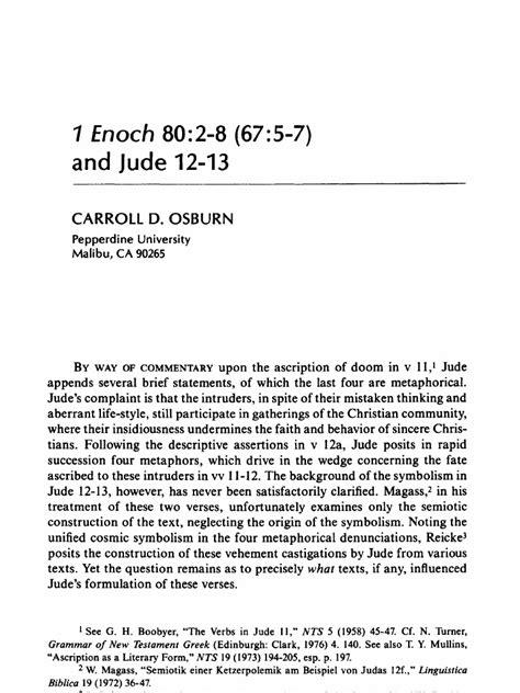 1 Enoch and Jude   Epistle Of Jude   Book Of Enoch