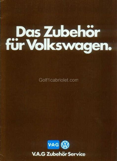 Wohnaccessoires Aus 1982 by Accessoires Vw 1984 All Golf1cabriolet