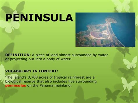 Landscape Expression Definition Image Gallery Peninsula Definition