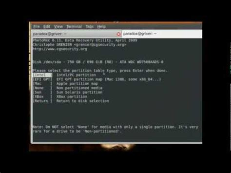 tutorial testdisk ubuntu testdisk and photorec basic tutorial doovi