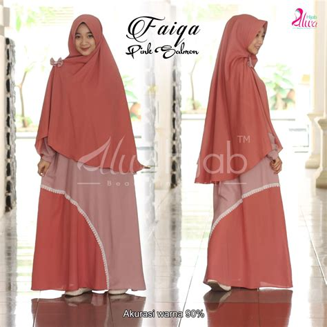 Queeny Salmon Khimar Antem Pet faiqa set rie
