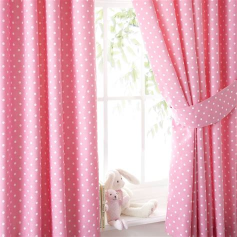 pink dot curtains polka dot curtain soozone