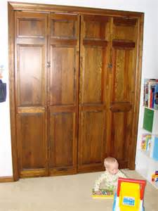 Wooden Bifold Closet Doors Baby Toolkit Babyproofing Hacking A Wooden Bi Fold Door