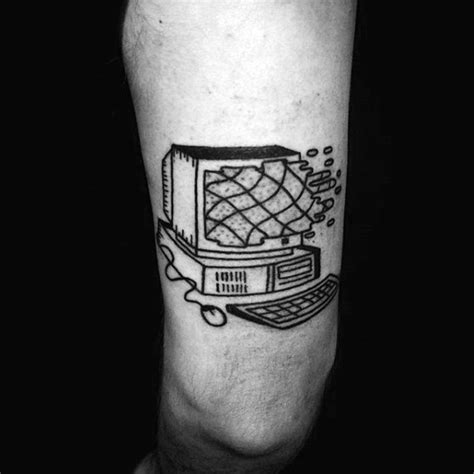 50 computer tattoo designs for men technology ink ideas