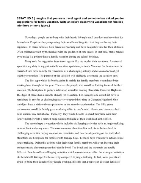 Essay About Trip by Writing
