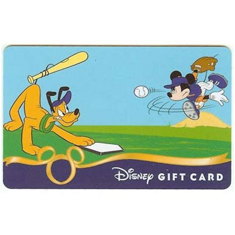 Mlb Gift Cards - your wdw store disney collectible gift card sports baseball mickey and pluto