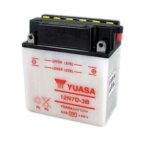 Motorrad Batterie 12v 7ah by Yuasa Motorcycle Battery 12n7d 3b 12v 7ah From County