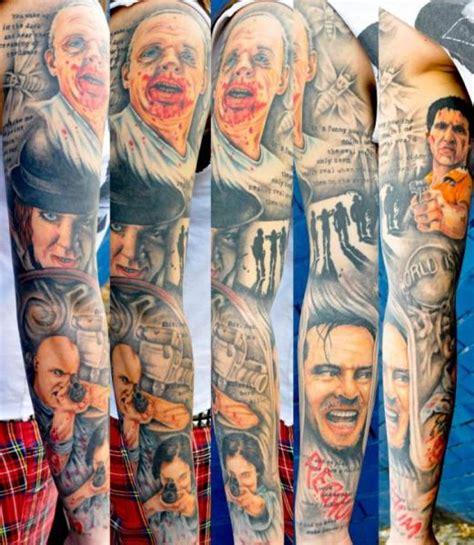 sleeve movie tattoo by benjamin laukis