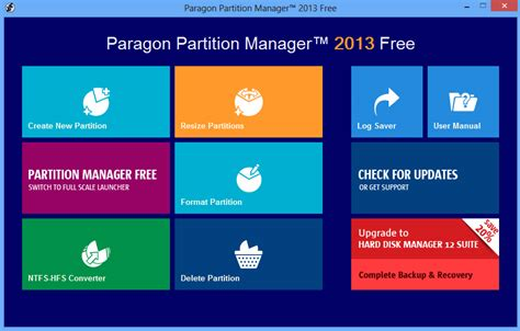 paragon hard disk manager full version download paragon partition manager 2013 free debuts new interface