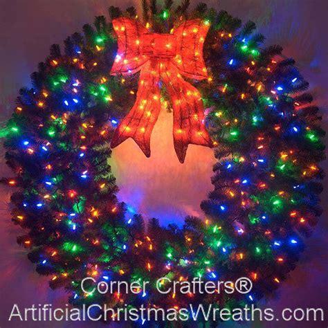 color changing l 5 foot color changing l e d prelit wreath