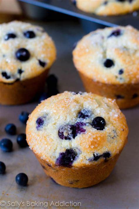 Pluffy Blueberry sparkling jumbo blueberry muffins sallys baking addiction
