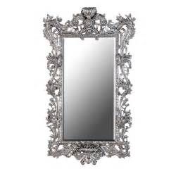 Enchantica large ornate silver mirror