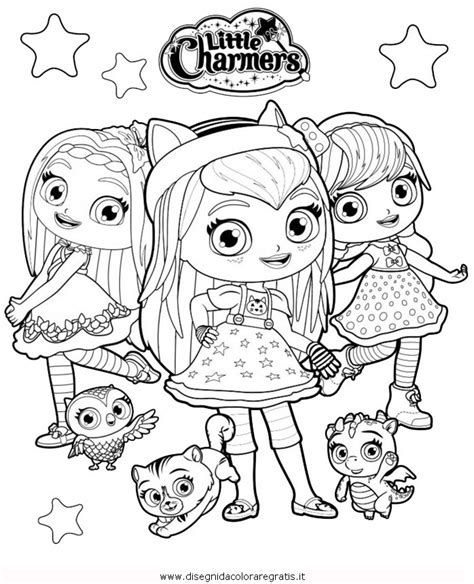 Hazel Syari charmers coloring pages coloring page