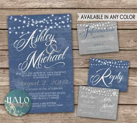 seaside postcard wedding invitations rustic wedding invitations blue invitation rsvp