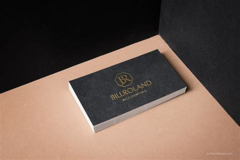 creme colored line template business cards classic printed cards with gold foil rockdesign