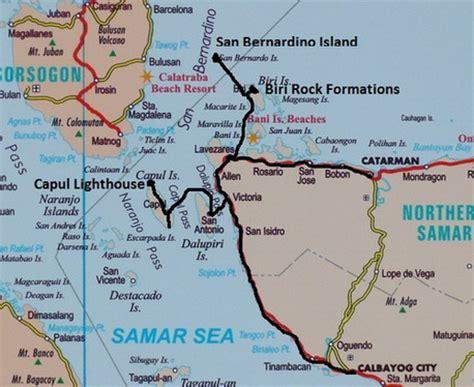 map of san jose northern samar the beaten track in the philippines northern samar