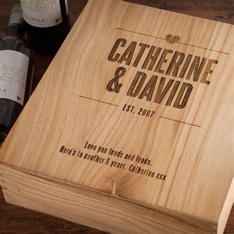 wedding wine box australia personalised 3 bottle wooden wine box established