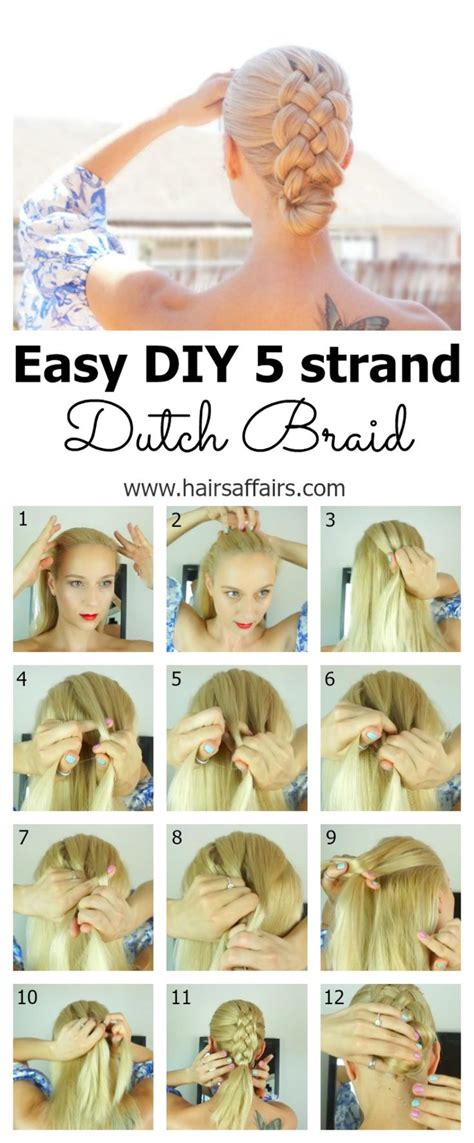 written instructions for 5 strand dutch braid 1968 best images about hairstyles i love updos on