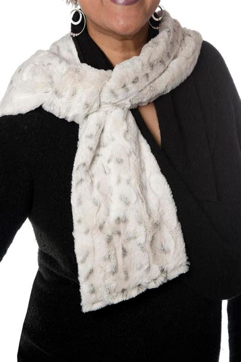 pandemonium millinery white faux fur scarf from