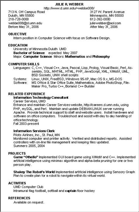 Resume Information Technology Exles by Sle Career Objectives For It Professionals 28 Images